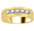 Image for 7.5mm Mens Round Diamond Ring
