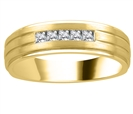 Image for 6mm Mens Princess Diamond Ring
