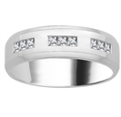 7mm Mens Princess Diamond Ring