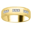 Image for 7mm Mens Princess Diamond Ring