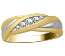 Image for 3mm Mens Round Diamond Ring