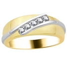 4mm Mens Round Diamond Ring