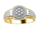 3.5mm Mens Round Diamond Ring