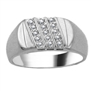 Image for 4mm Mens Round Diamond Ring