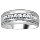 5mm Mens Round Diamond Ring
