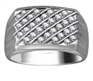 Image for 4.5mm Mens Round Diamond Ring
