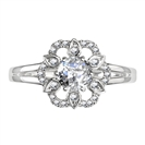 Image for Flower Style Round Diamond Designer Ring