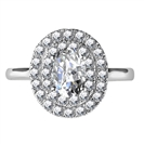 Image for Double Halo Oval Diamond Engagement Ring