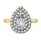Image for Double Halo Pear Diamond Engagement Ring