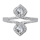 Unique Round Diamond Dress Ring