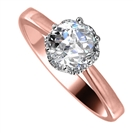 Image for Modern Side Halo Round Diamond Engagement Ring
