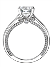 0.50CT IF/F Round Diamond Shoulder Set Ring