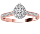 Image for Single Halo Diamond Cluster Shoulder Set Ring