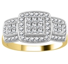 Image for Designer Halo Diamond Cluster Ring