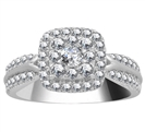 Image for Halo Diamond Cluster Shoulder Set Ring