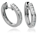 0.40CT VS1/F Round Diamond Earrings