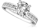 Round Shoulder Set Diamond Engagement Ring