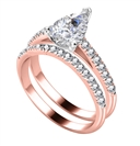 Image for Pear Diamond Shoulder Set Ring With Matching Band