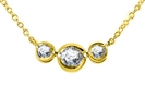 Image for Three Stone Diamond Necklace