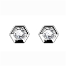 Image for Round Diamond Hexagon Shaped Earrings