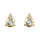 Image for Round Diamond Pear Shaped Earrings