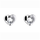Image for Round Diamond Heart Shaped Earrings