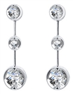 Elegant Round Diamond Drop Earrings
