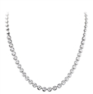 Elegant Round Diamond Drop Necklace