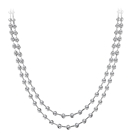 Elegant Two Strand Round Diamond Necklace