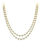 Image for Elegant Two Strand Round Diamond Necklace