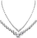 Elegant V Shaped Round Diamond Necklace