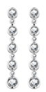 Image for Elegant Round Diamond Drop Earrings