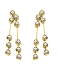 Image for Elegant Round Diamond Two Drop Earrings