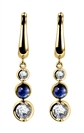 Image for Blue Sapphire & Diamond Drop Earrings