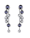 Blue Sapphire & Diamond Drop Earrings