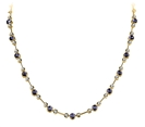Image for Round Diamond & Blue Sapphire Necklace