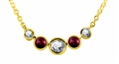 Image for Round Diamond & Ruby Necklace