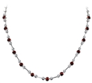 Round Diamond & Ruby Necklace