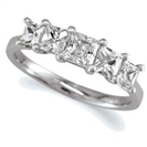 0.50CT I1/G Princess Diamond Eternity Ring