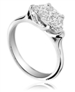 0.50CT SI/FG Princess Diamond Trilogy Ring