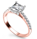 Image for Princess Diamond Shoulder Set Ring