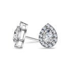Image for Pear Diamond Single Halo Earrings