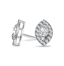 Image for Marquise Diamond Single Halo Earrings