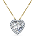 Image for Heart Shaped Diamond Single Halo Pendant
