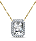 Image for Radaint Shaped Diamond Single Halo Pendant