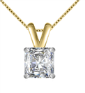 Image for Modern Radiant Diamond Solitaire Pendant