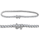 Modern Single Row Diamond Tennis Bracelet
