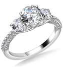 Image for Round Diamond Trilogy Engagement Ring