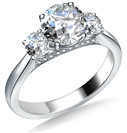 Image for Unique 3 Stone Diamond Ring