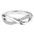 Image for 2mm Infinity Shaped Diamond Wedding Ring